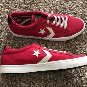 Converse Shoes - New, never worn men's red Converse All Stars